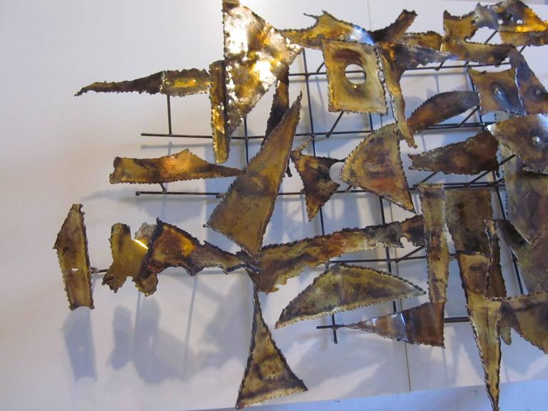 20th Century Curtis Jere Styled Brutalist Wall Sculpture For Sale