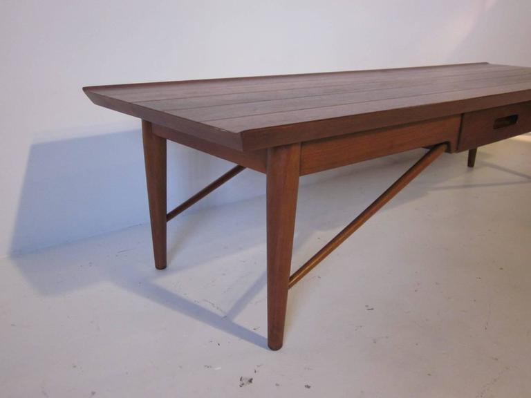 Captivating Heritage Henredon Walnut Coffee Table 3