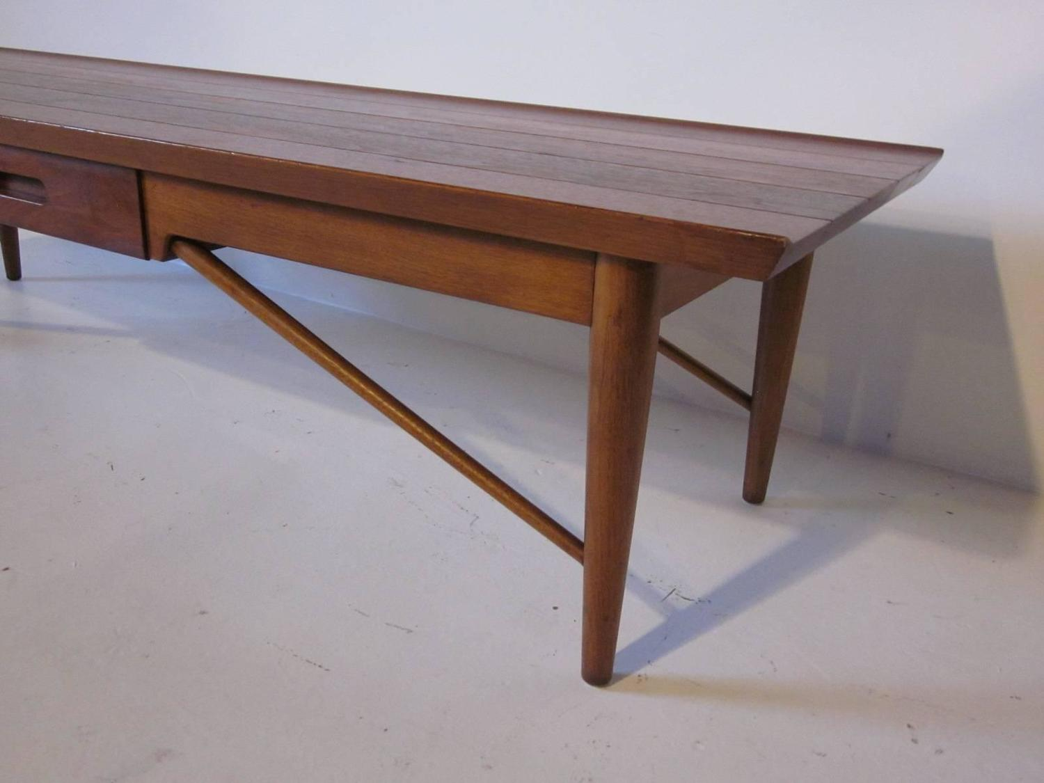 Heritage Henredon Walnut Coffee Table For Sale At 1stdibs