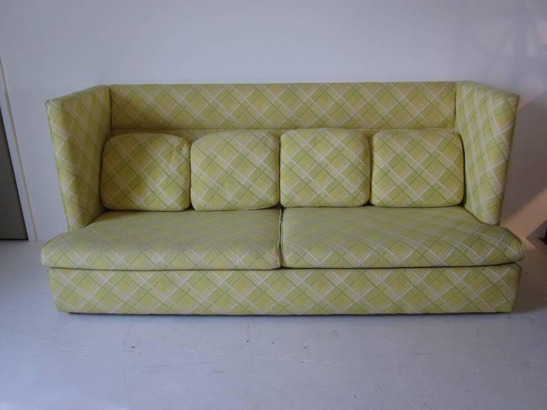 Modern Milo Baughman Shelter Sofa With Ottomans For Sale