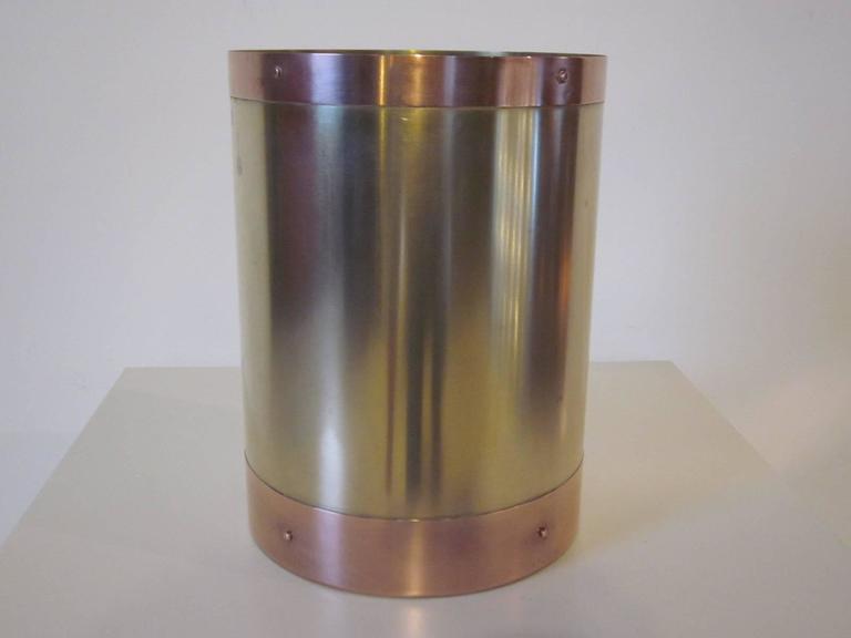 Brass and copper waste paper basket at 1stdibs - Copper wastebasket ...