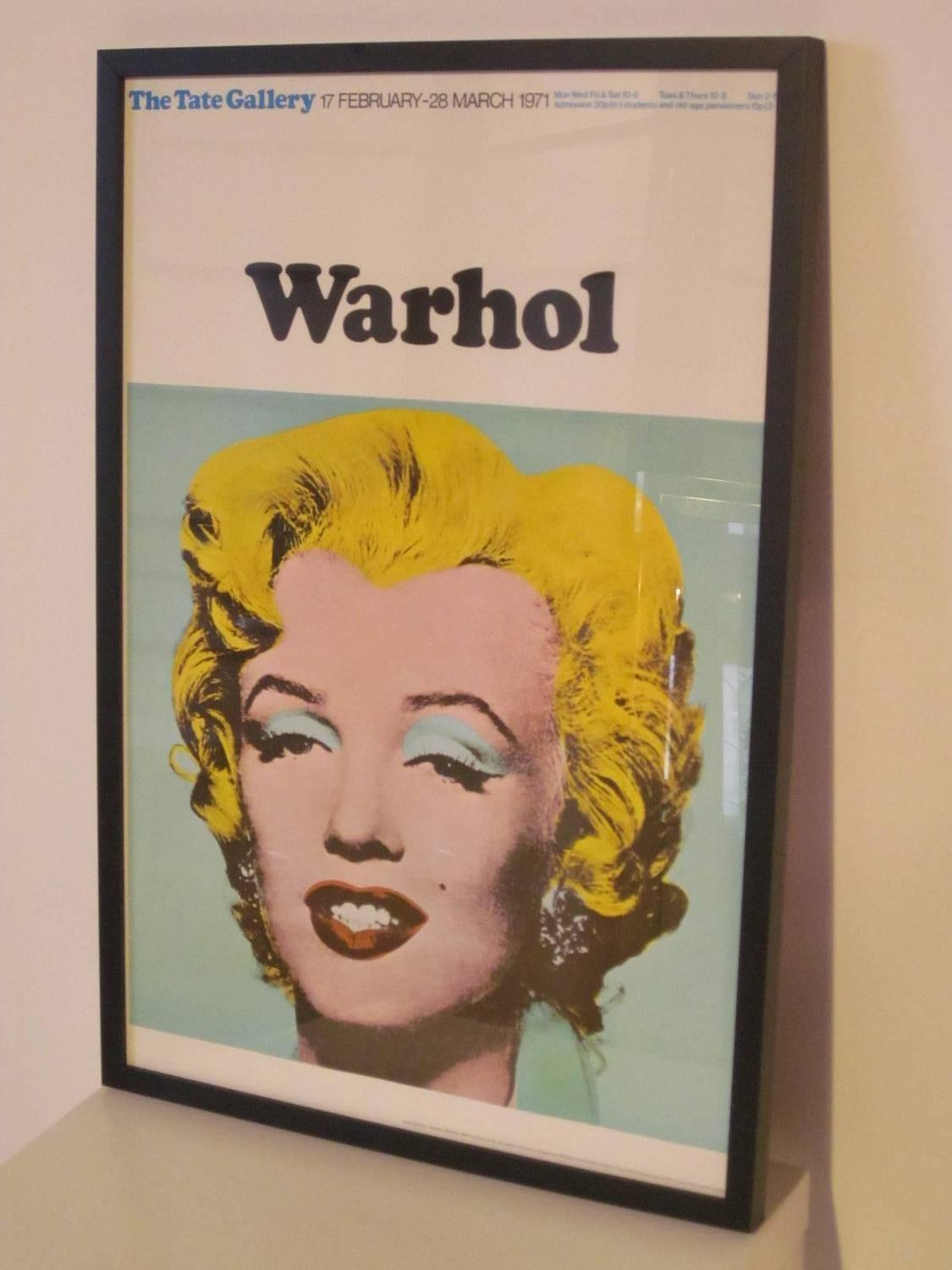 Andy Warhol And Marilyn Monroe Poster From The Tate