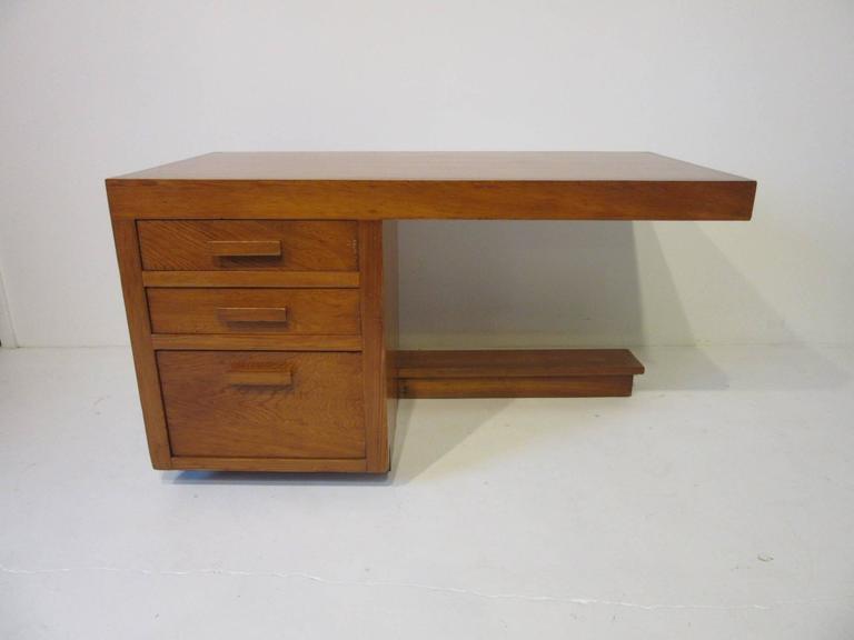 Important Frank Lloyd Wright Usonian Desk From The Levin