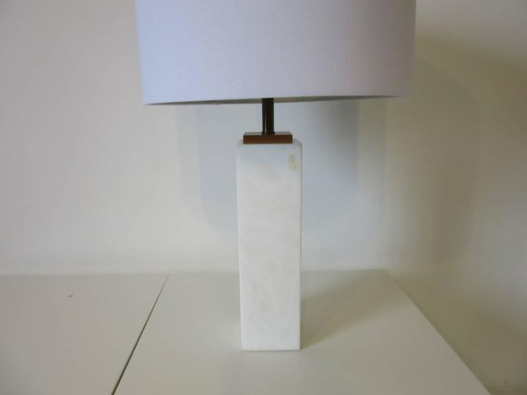 Mid Century Modern White Italian Table Lamp By S. G, Italy For Sale