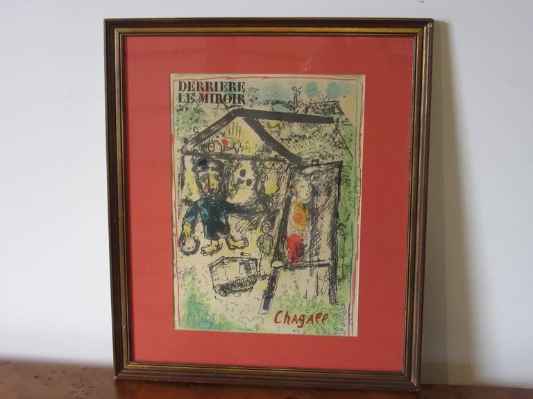 Marc Chagall Derriere Le Miroir Lithograph