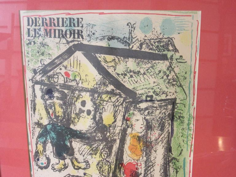 The issue of Derriere Le Miroir number 182 was published in December 1969 and is the seventh of a total of 11 monographic Derriere Le Miroir volumes with original graphic works by Marc Chagall. This one is the cover titled