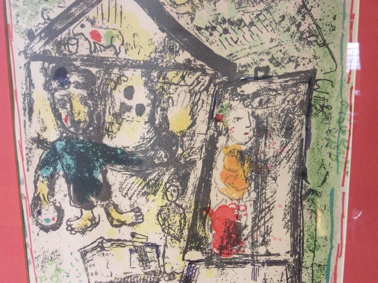 Modern Marc Chagall Derriere Le Miroir Lithograph