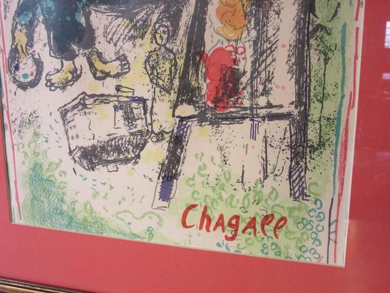 French Marc Chagall Derriere Le Miroir Lithograph