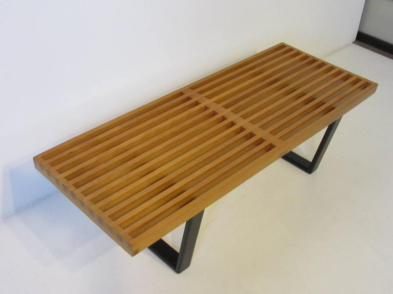 Very Early Production George Nelson Small Bench Or Coffee Table At 1stdibs