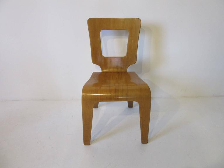 A Pair Of Molded Plywood Side Chairs By Herbert Von Jordan Who During The  Period Of