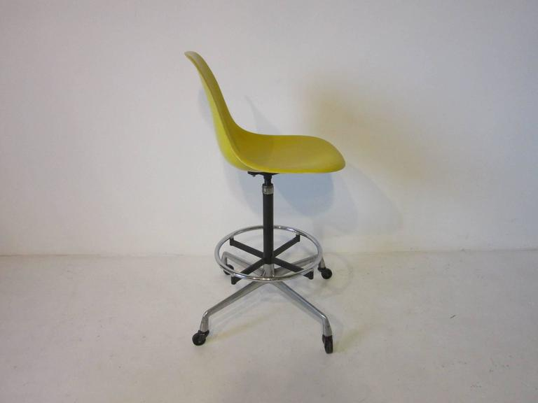 Eames Architectural Drafting Or Bar Stools For Herman