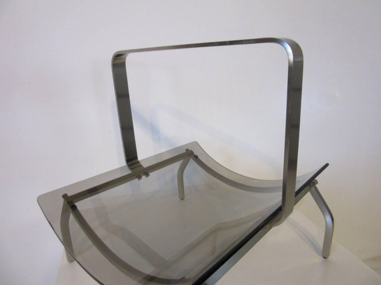 Fontana Arte Stainless and Glass Magazine Rack 5
