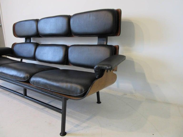 Mid-Century Modern Prototype George Mulhauser Plycraft Sofa Very Rare For Sale