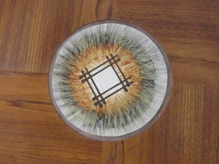 Mid-Century Modern Tue Poulsen Tile Topped Danish Teak Side / End Table For Sale