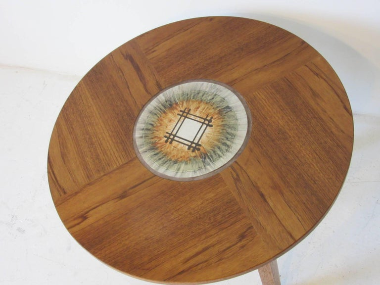Tue Poulsen Tile Topped Danish Teak Side / End Table In Good Condition For Sale In Cincinnati, OH