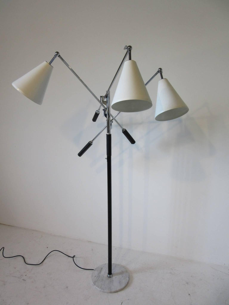 Italian Triennale Floor Lamp in the style of Angelo Lelli For Sale 3