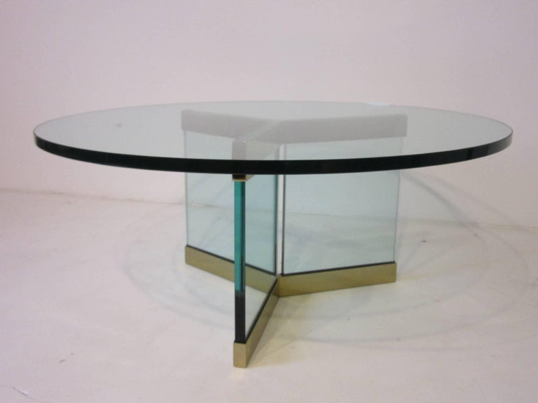 Brass And Glass Coffee Table Designed By Leon Pace For Sale At 1stdibs