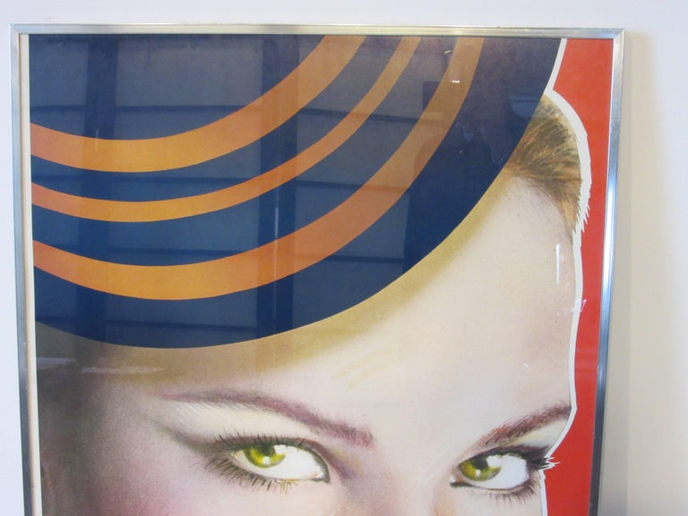 Modern Large Interview Magazine Richard Bernstein Color Litho in the Manner of Warhol For Sale