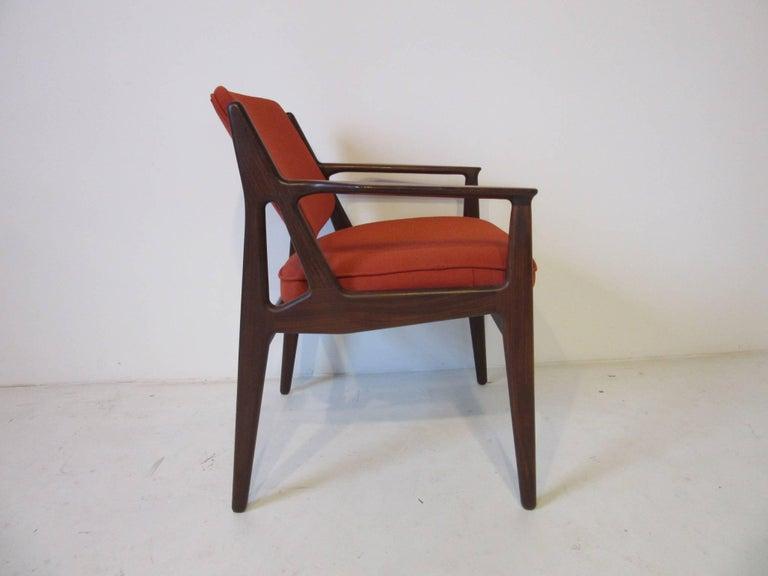 Mid-Century Modern Arne Vodder Tilt Back Armchair, Denmark For Sale