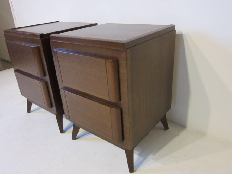Mid-Century Modern Eliel Saarinen Nightstands for R-Way Modern For Sale