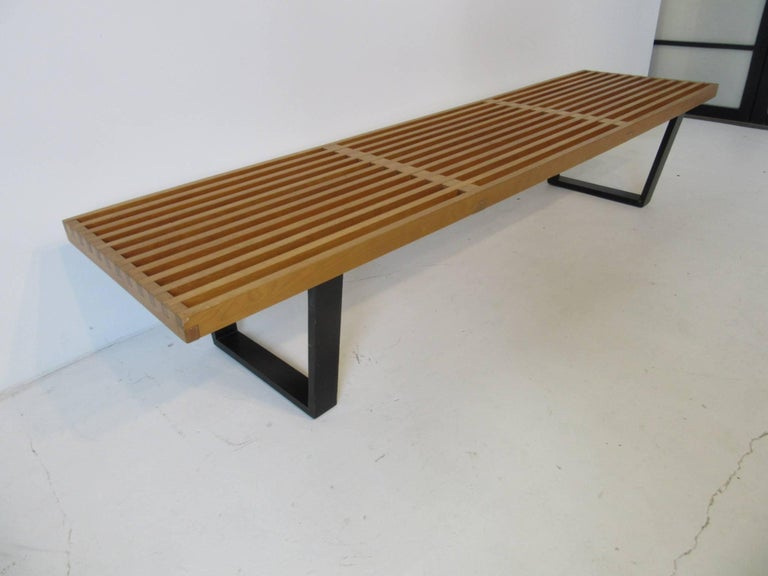 Remarkable Vintage George Nelson Platform Slat Bench Or Coffee Table Gmtry Best Dining Table And Chair Ideas Images Gmtryco