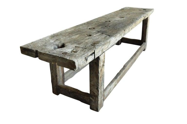 Spanish Primitive Early 19th Century Etabli - Work Bench For Sale