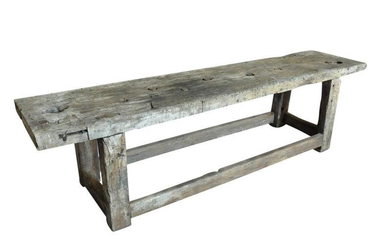 Primitive Early 19th Century Etabli - Work Bench In Good Condition For Sale In Atlanta, GA