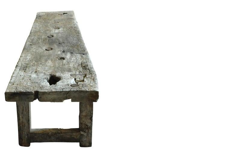 Beech Primitive Early 19th Century Etabli - Work Bench For Sale
