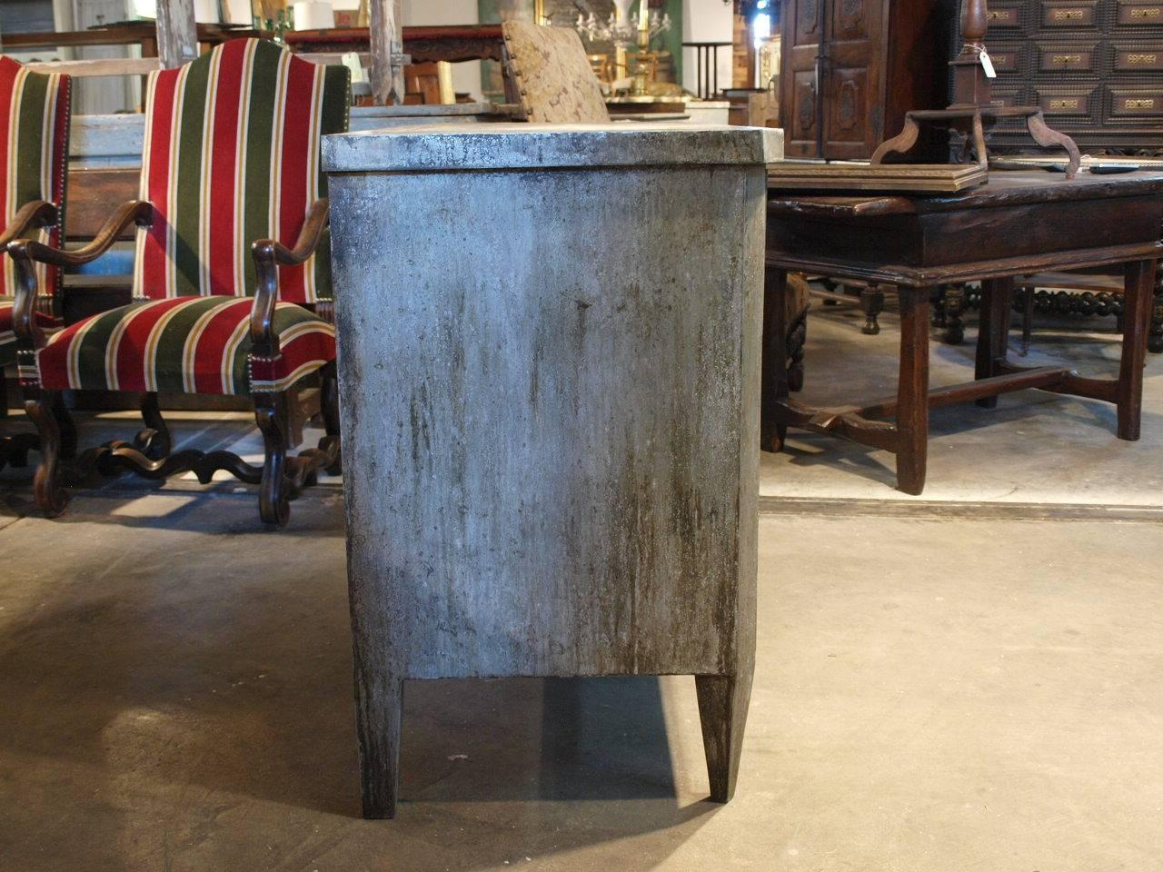 19th Century Spanish Commode Clad In Zinc At 1stdibs