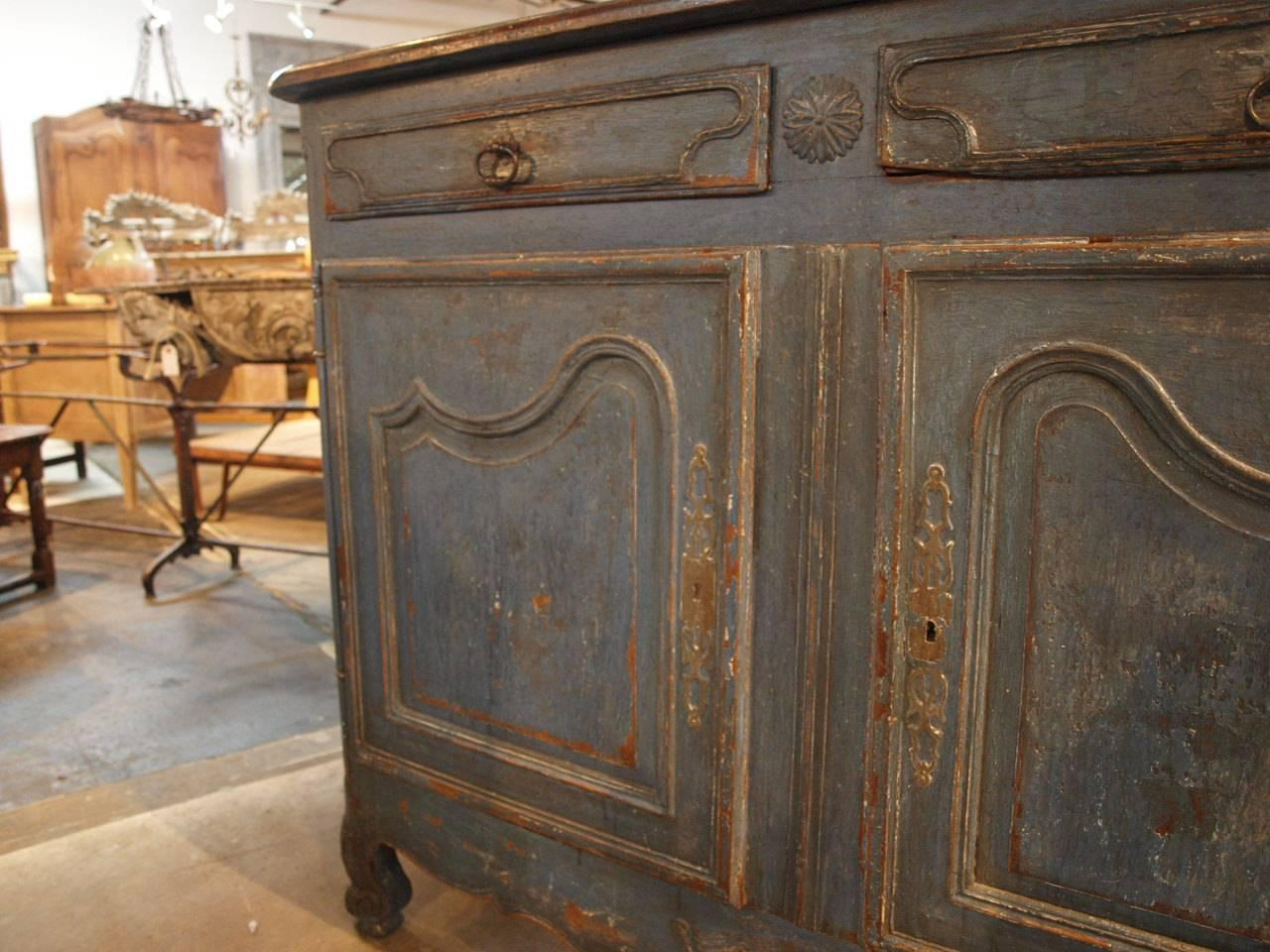 French 18th Century Enfilade Buffet In Painted Wood At 1stdibs