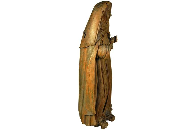 Italian 18th Century Statue of Saint Anne In Good Condition For Sale In Atlanta, GA
