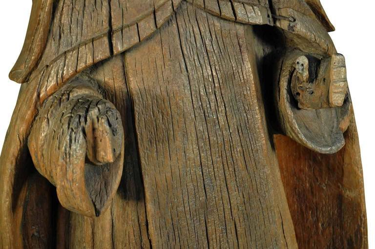 Wood Italian 18th Century Statue of Saint Anne For Sale