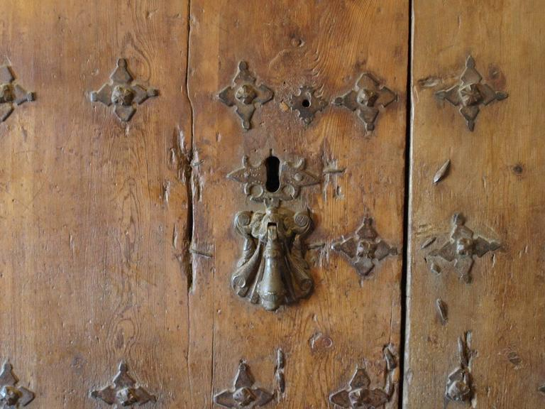 Exceptional and Monumental 17th Century Spanish Entry Door In Good Condition For Sale In Atlanta, GA