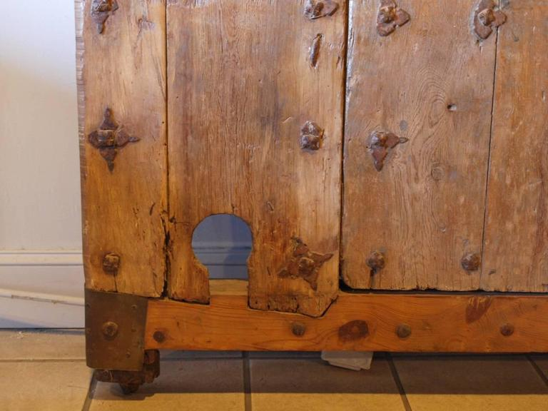 Exceptional and Monumental 17th Century Spanish Entry Door For Sale 2