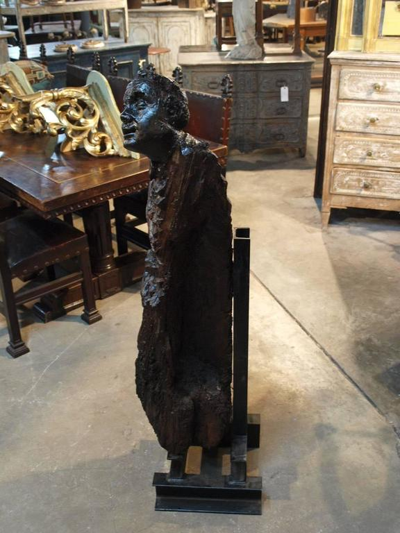 Italian 17th Century Santos Sculpture in Wood For Sale 2