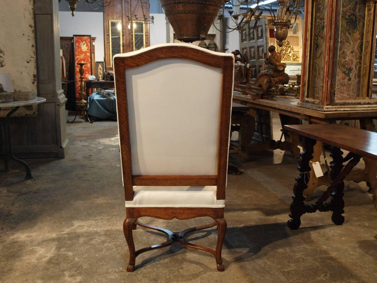 Pair Of French Regence Style Fauteuils Armchairs In Oak