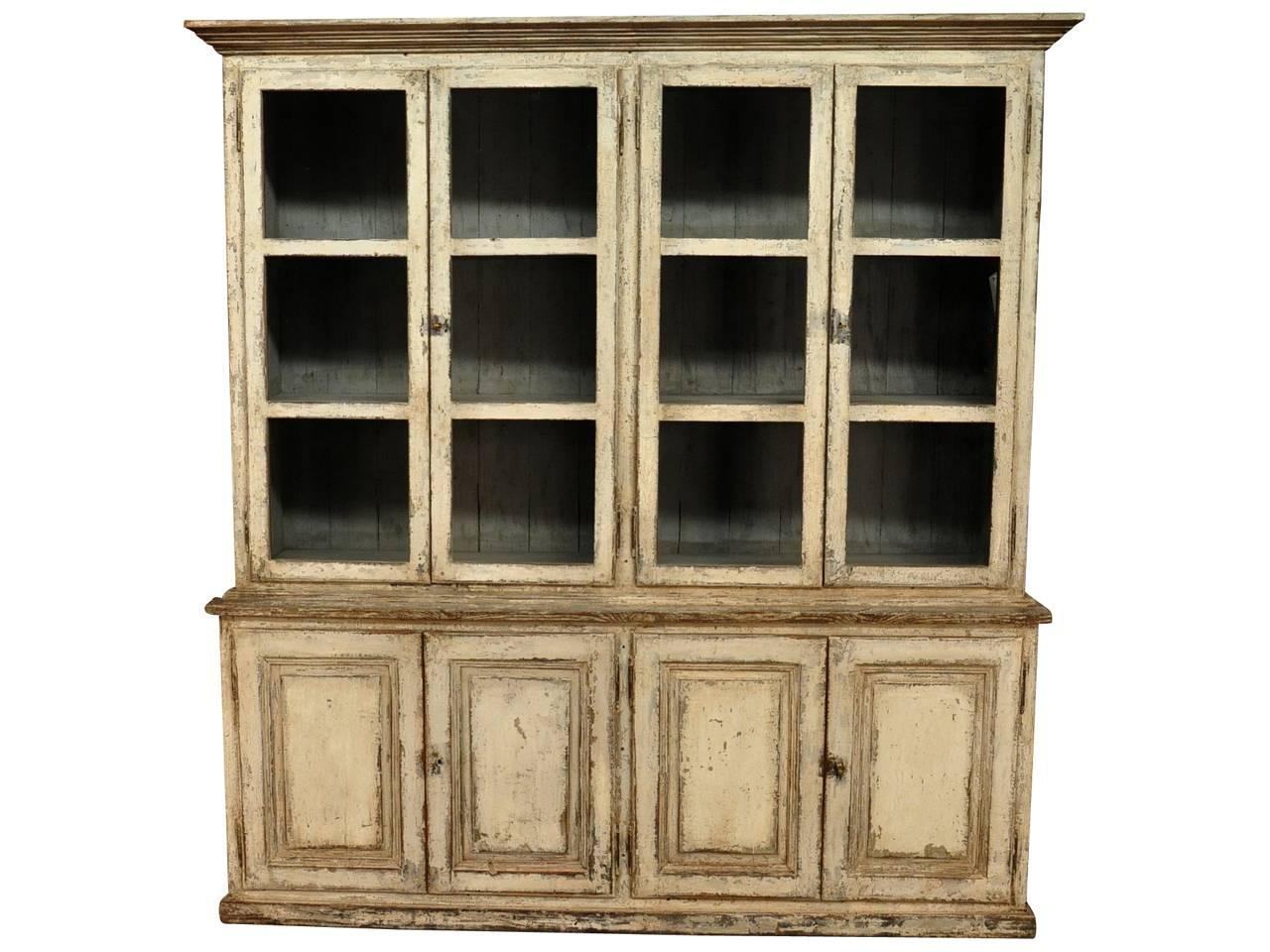 Early 19th Century Bookcase In Solid Painted Wood From Portugal For . Full resolution‎  picture, nominally Width 1280 Height 960 pixels, picture with #8E7A3D.
