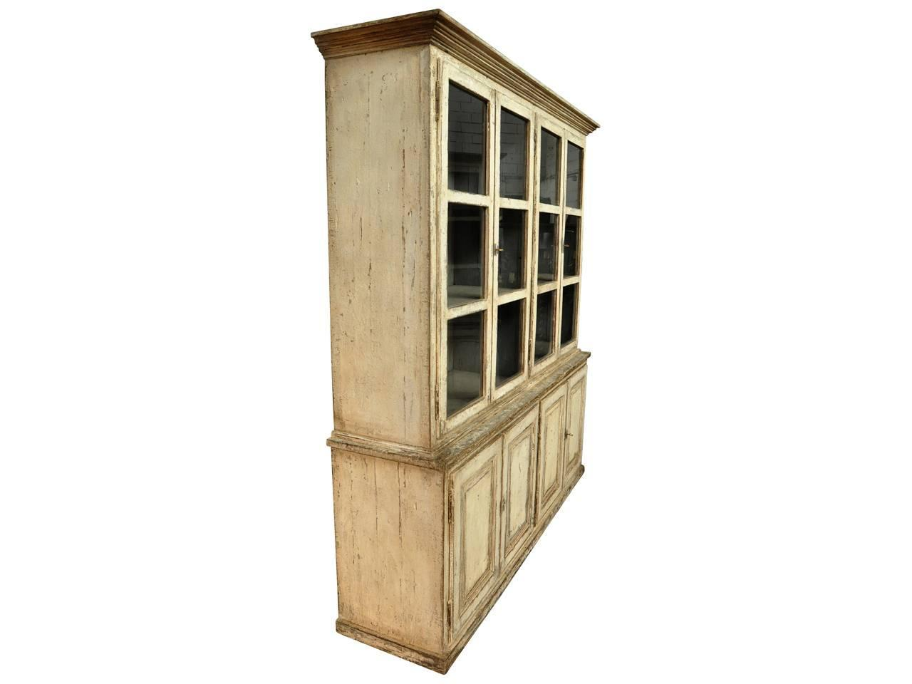 Early 19th Century Bookcase In Solid Painted Wood From Portugal For . Full resolution‎  picture, nominally Width 1280 Height 960 pixels, picture with #614928.