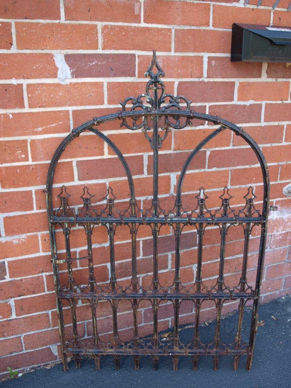 French th century cast iron garden gate at stdibs