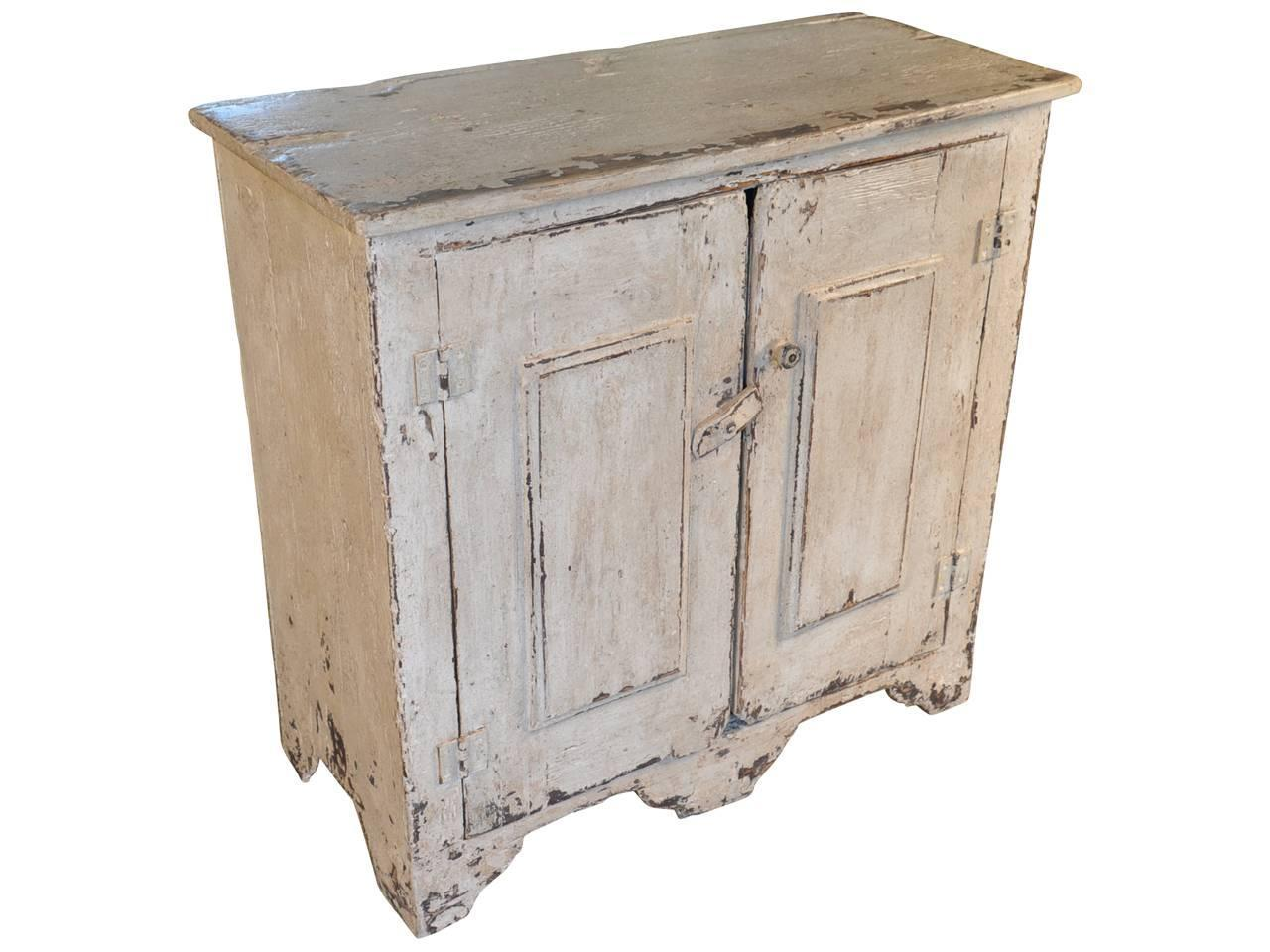 Pair Of Spanish Buffets In Painted Wood At 1stdibs