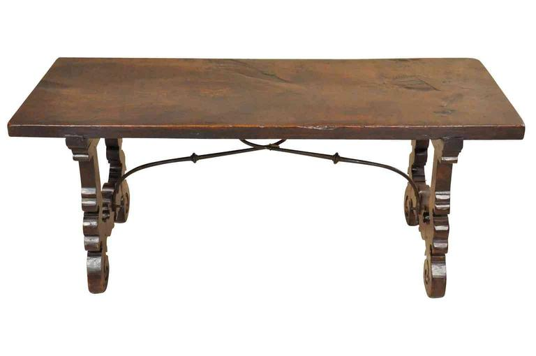 Spanish 18th Century Bench Coffee Table At 1stdibs