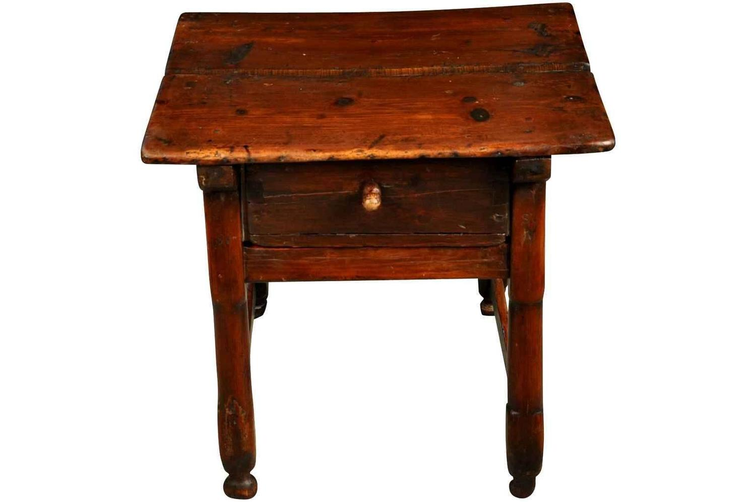 Spanish 18th Century Small Side Table Or Stool At 1stdibs