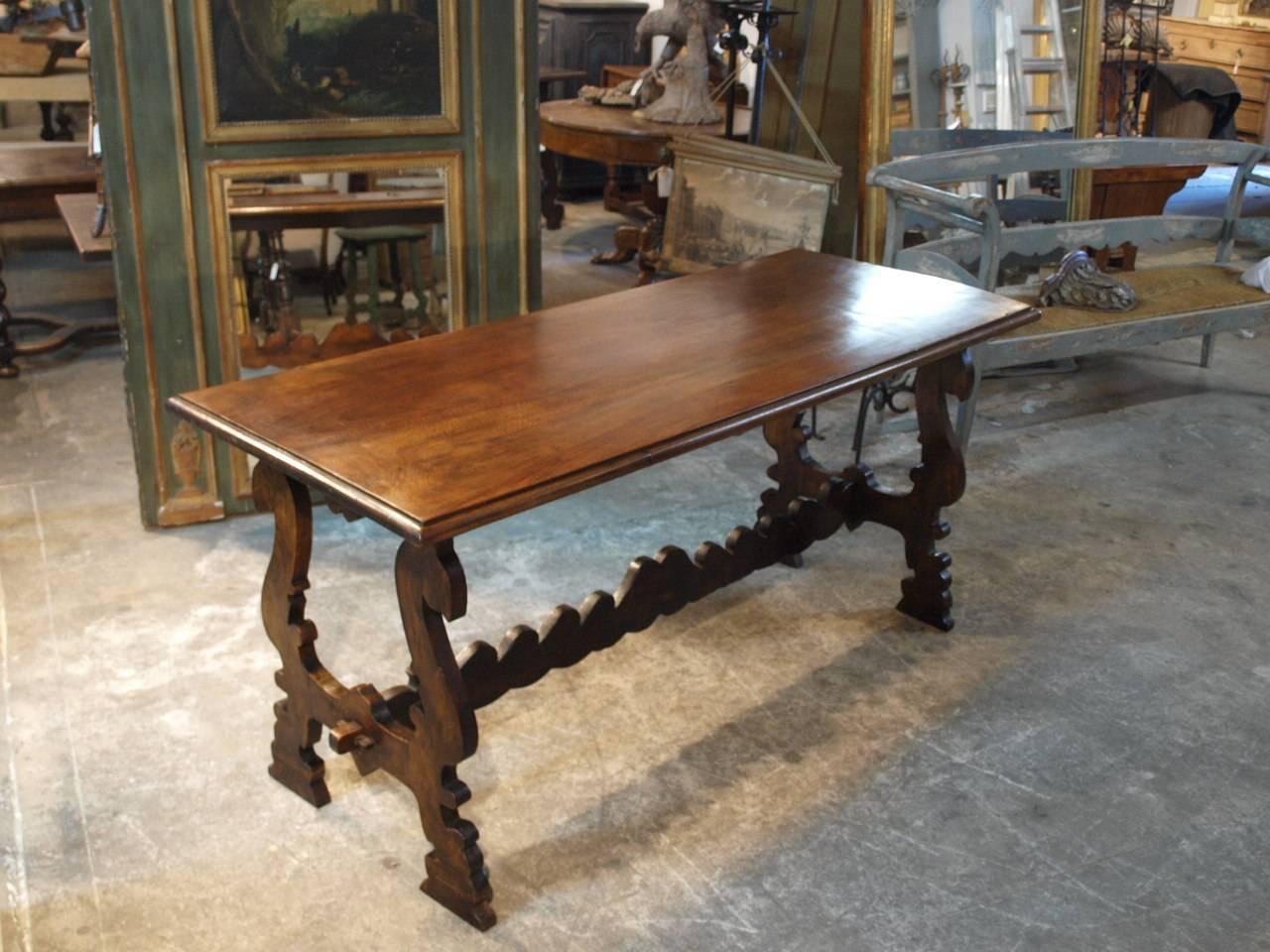 19th Century Italian Console Table In Walnut At 1stdibs