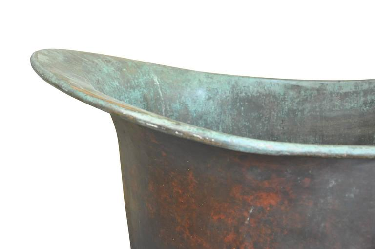 Tremendous 19th Century French Slipper Shaped Bath Tub in Copper at ...