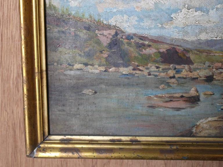 19th Century Oil on Canvas Landscape Painting For Sale 1