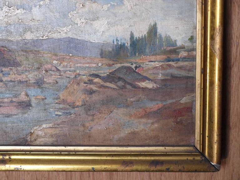 19th Century Oil on Canvas Landscape Painting For Sale 2