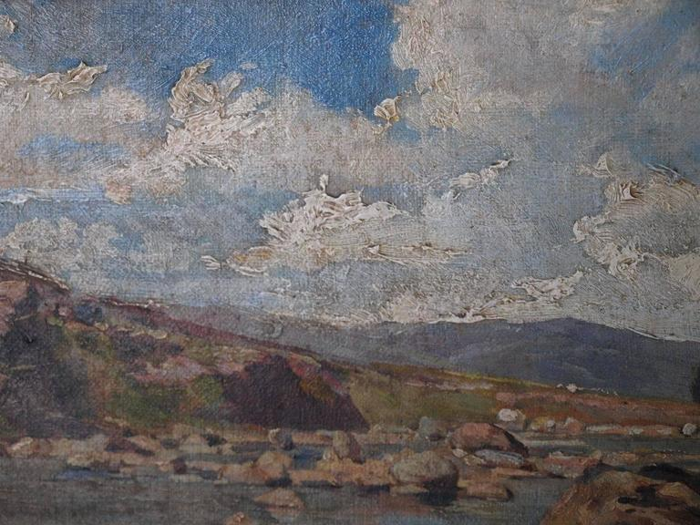 19th Century Oil on Canvas Landscape Painting For Sale 3