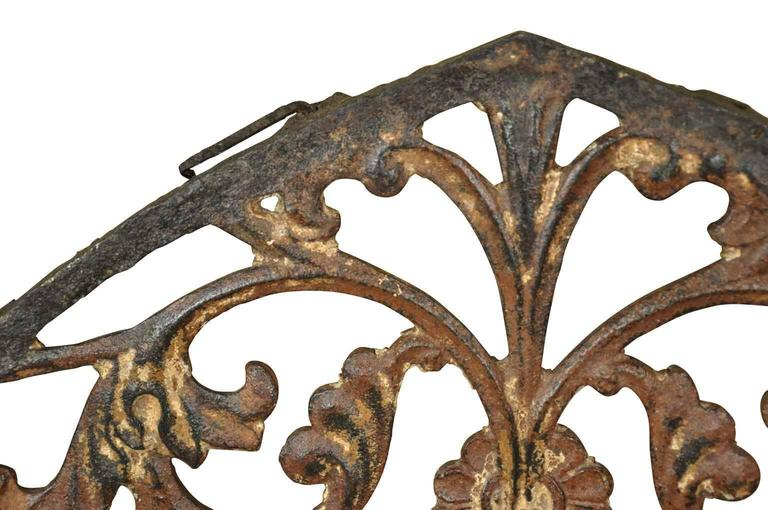 Iron French 18th Century Gothic Style Architectural Fragment For Sale