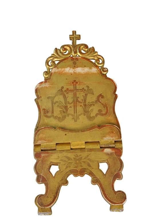 19th Century Gilt Bible Stand from Northern Italy For Sale 1