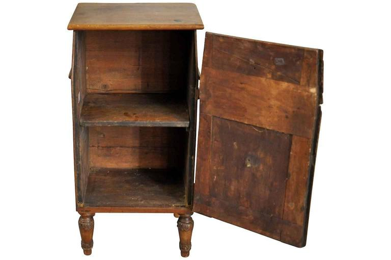 Walnut Italian Early 19th Century Side Cabinet or Nightstand For Sale